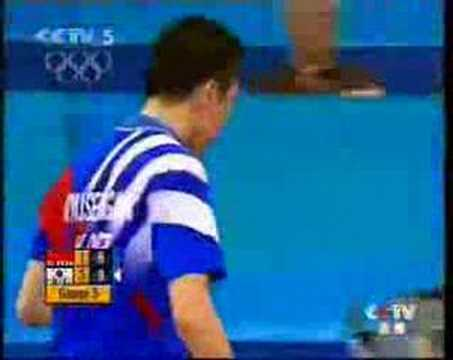 2004 Olympics Final Wang Hao - Ryu Seung Min pt 4/5