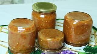 Очень вкусная аджика из баклажан  рецепт из Одессы