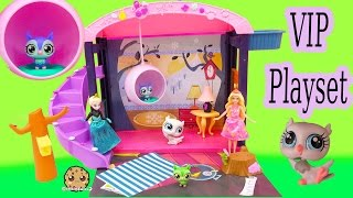 Littlest Pet Shop VIP Suite LPS Toys R Us Exclusive Playset with Queen Elsa + Barbie - Cookieswirlc