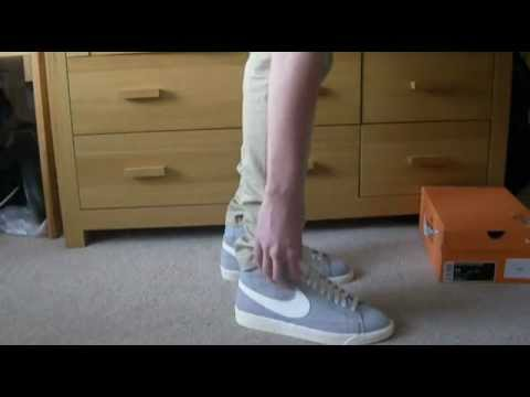 release date: 67028 0f126 Nike Blazer Hi Suede (Vintage) Wolf Grey on Feet - YouTube