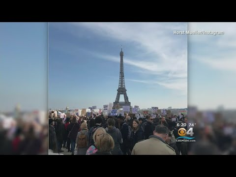 Marches Held Across The U.S. And On Six Of The Planet's Seven Continents
