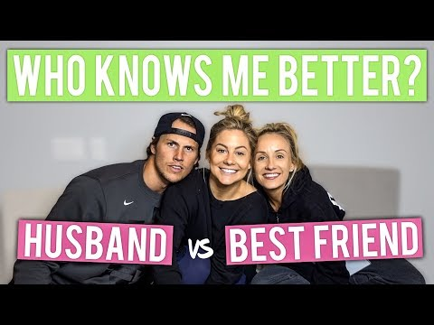 WHO KNOWS ME BETTER CHALLENGE: HUSBAND vs BEST FRIEND *NASTIA LIUKIN* | Shawn Johnson