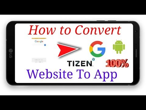 How to convert website to app apk ( for android ) tpk( for tizen )