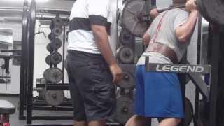 John Riley doing kroc's 40 rep squat at 17 years old