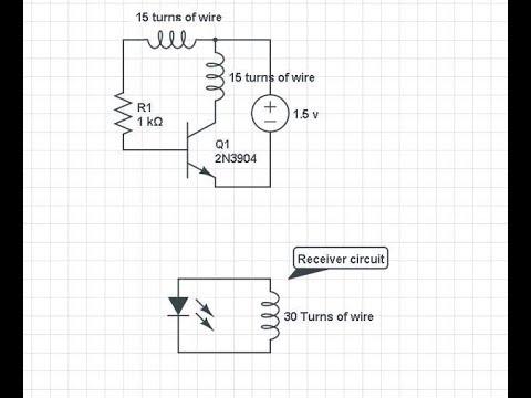 Wireless power transfer circuit School project