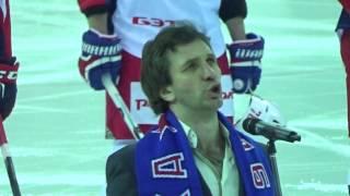 Вот это да! Гимн перед матчем ЦСКА с Локомотивом поет Александр Рагулин!