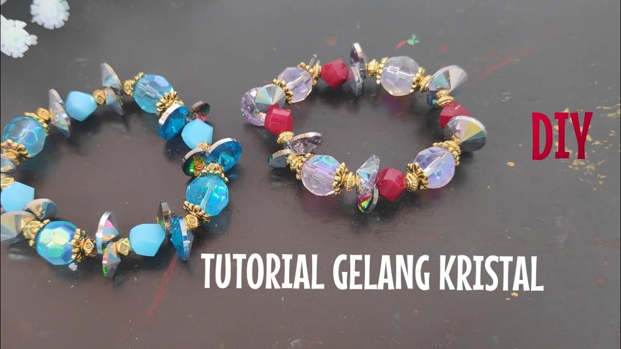 CARA MEMBUAT GELANG KRISTAL /easy bracelet/ jewelry making