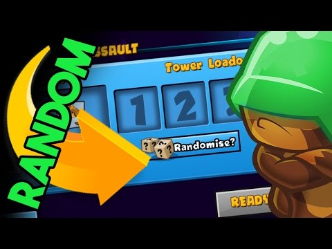 Bloons TD Battles   WINNING WITH RANDOM TOWERS   RUSH WITH THE ENEMY