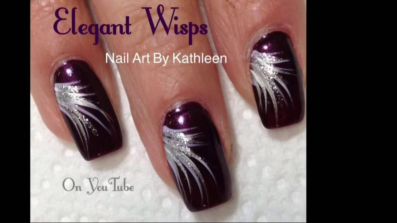 Elegant Wisps Easy Diy Nail Art For Beginners Youtube