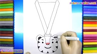 How To Draw Soohorang Medal (step by step) | Pyeongchang