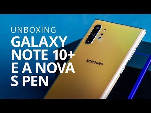 GALAXY NOTE 10+ E A NOVA S Pen [Unboxing]