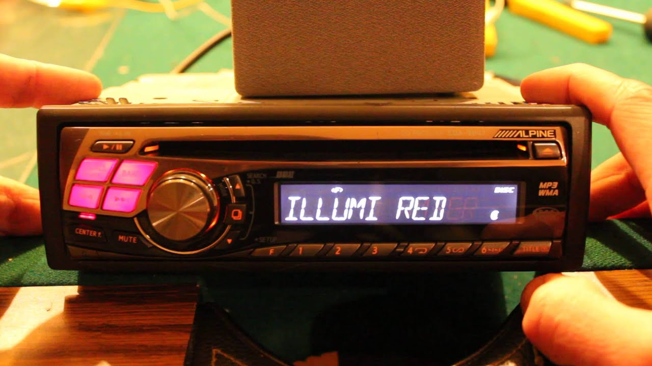 alpine cda 9847 cd receiver unit overview youtube rh youtube com