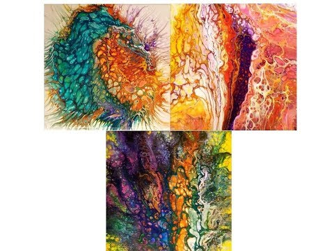(15) How to Pour Acrylic Fluid Art with lots of cells with Sandra Lett  2 120817