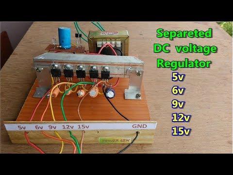 DIY   simple separated DC voltage regulator 5v,6v,8v,9v,12v,15v etc
