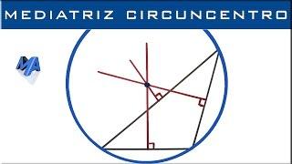 Mediatriz de un triangulo | Circuncentro