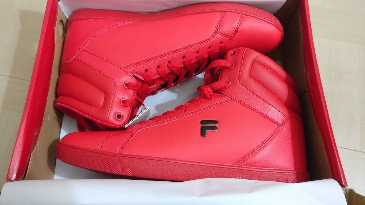 best authentic 90835 56b4a Unboxing Fila amazon red Kolton Sneakers Youtube Men s x6Pnq67w0