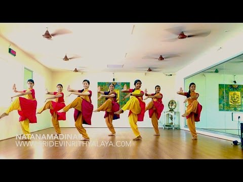 Sridevi Nrithyalaya - Natanamadinar Group presentation with 7 dancers