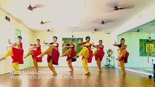Sridevi Nrithyalaya - Natanamadinar Group presentation with 7 dancers