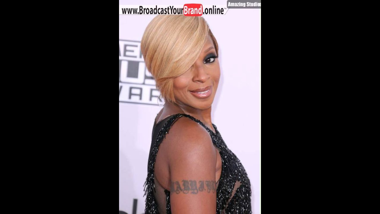 Mary J Blige Layered Blonde Bob For Black Women Youtube