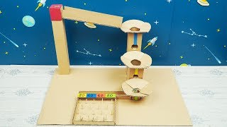DIY Marble Drop Game from Cardboard - Easy Cardboard Crafts