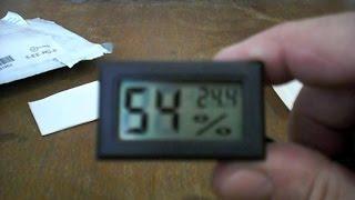 Гигрометр - термометр для инкубатора.(Купить жк цифровой мини термометр-гигкрометр ( измеритель влажности) можно в китайском интернет магазине:..., 2015-05-09T21:08:43.000Z)