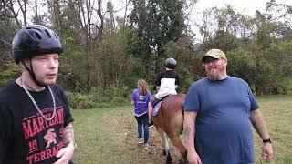 Baltimore roughnecks scared to ride a horse.