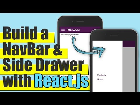 ReactJS – Build a Responsive Navigation Bar & Side Drawer Tutorial