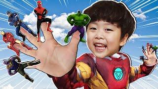 슈퍼히어로 아이언맨 지환이와 슈퍼히어로 핑거송 함께 불러요 Superhero Finger Song with Jihwan