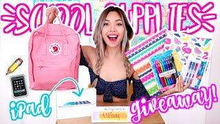 MASSIVE Back To School Supplies Haul! + GIVEAWAY 2018