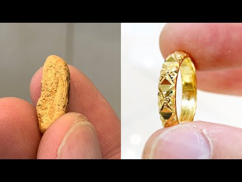 Ladies 22k Gold Ring Making New Design | How it's made | 4K Video Jewelry Making