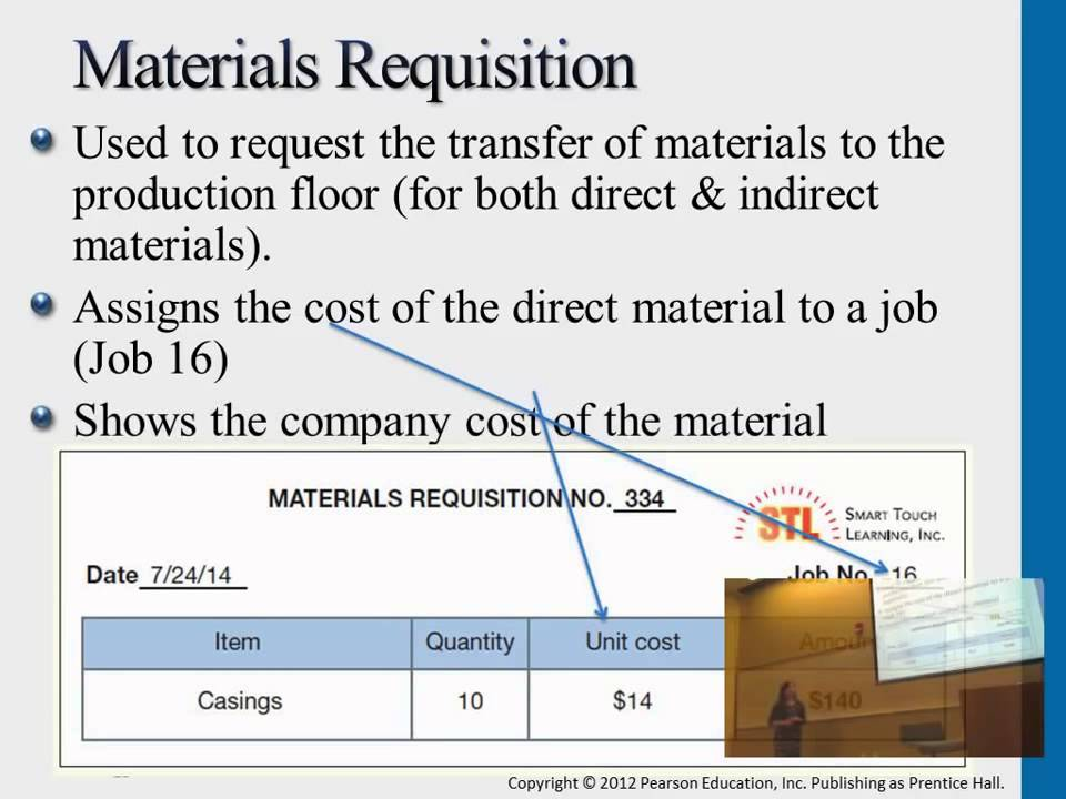 Materials Requisition  Job Cost Record  Youtube
