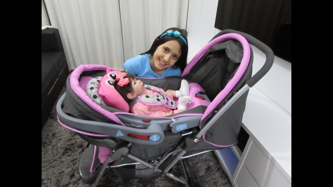 5b25425a9841 Review do carrinho e do bebê conforto da minha bebê reborn - YouTube