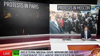 'It doesn't fit the narrative'  MSM give minimum or no coverage to violent protests in Paris