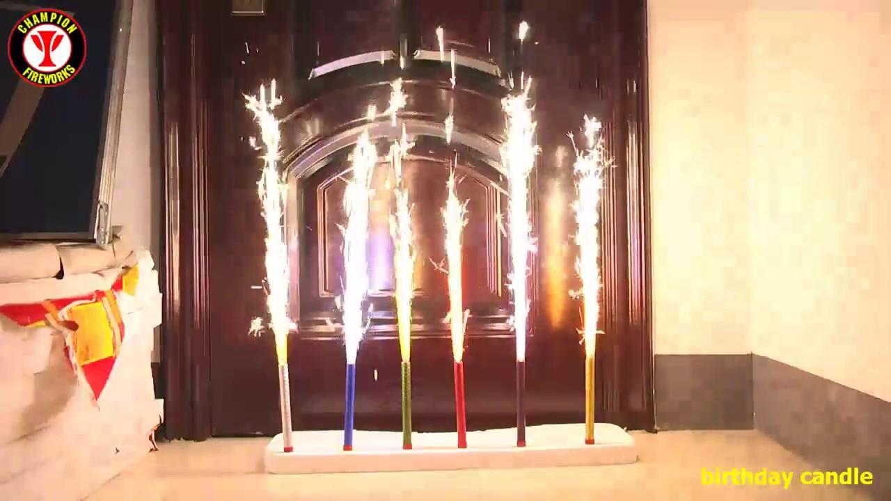 Birthday Candle Cake Smokeless Cold Fountain Fireworks