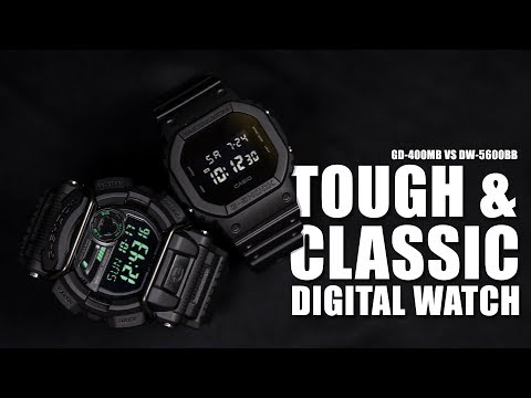 TOUGH & CLASSIC G-SHOCK - CASIO GD-400MB VS DW-5600BB