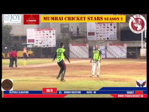 Bandra Rockstars Vs Vileparle Gladiators Mumbai Cricket Star