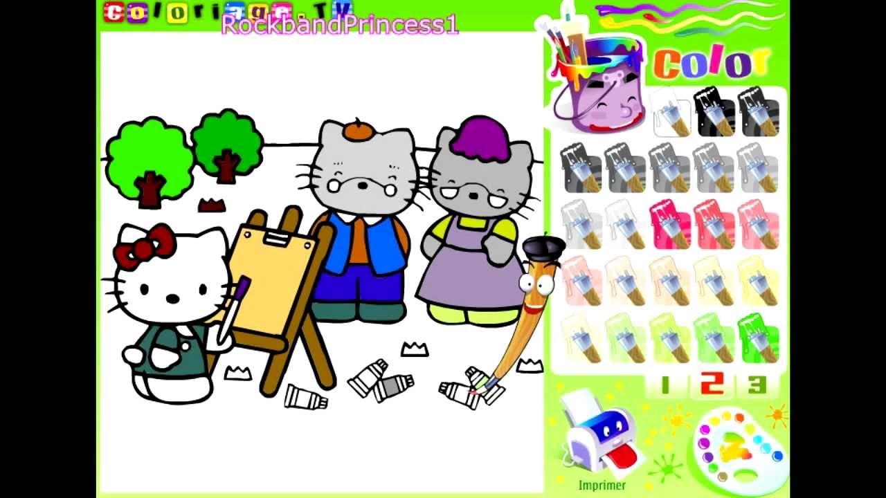 Hello Kitty Online Games Painting Game