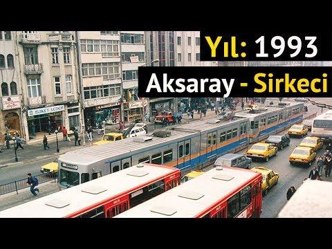 1993 YILINDA İSTANBUL'DA GEZELİM   Aksaray - Sirkeci Tramvay Hattı #çemberlitaş #laleli #aksaray