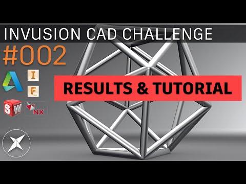 Invusion CAD Challenge #002 RESULTS & TUTORIAL! - Inventor & Fusion 360
