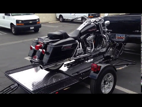 Three Rail Foldable Motorcycle Trailer kit, Tow Three bike how to use