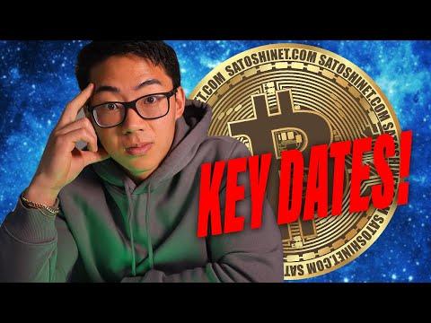 Crypto Key Dates To Know NOW U0026 Huge Crypto News