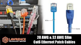 monoprice slimrun cat6 ethernet patch cables compared 28 32 awg