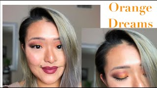 Orange Cut Crease Eyeshadow on Asian Eyes: Thanksgiving Edition