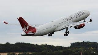Virgin Atlantic A330-300 Circuit Training at Prestwick Airport