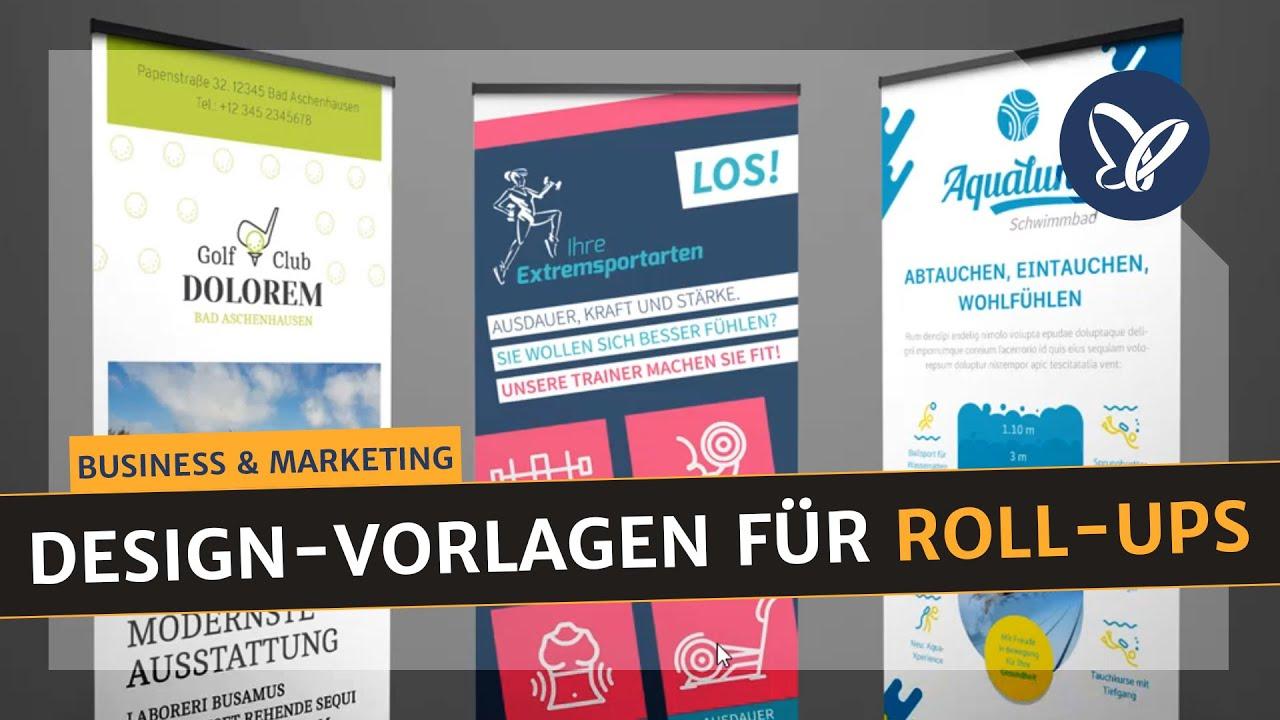 InDesign-Tutorial: Druckfertige Design Vorlagen für Roll-Ups die ...