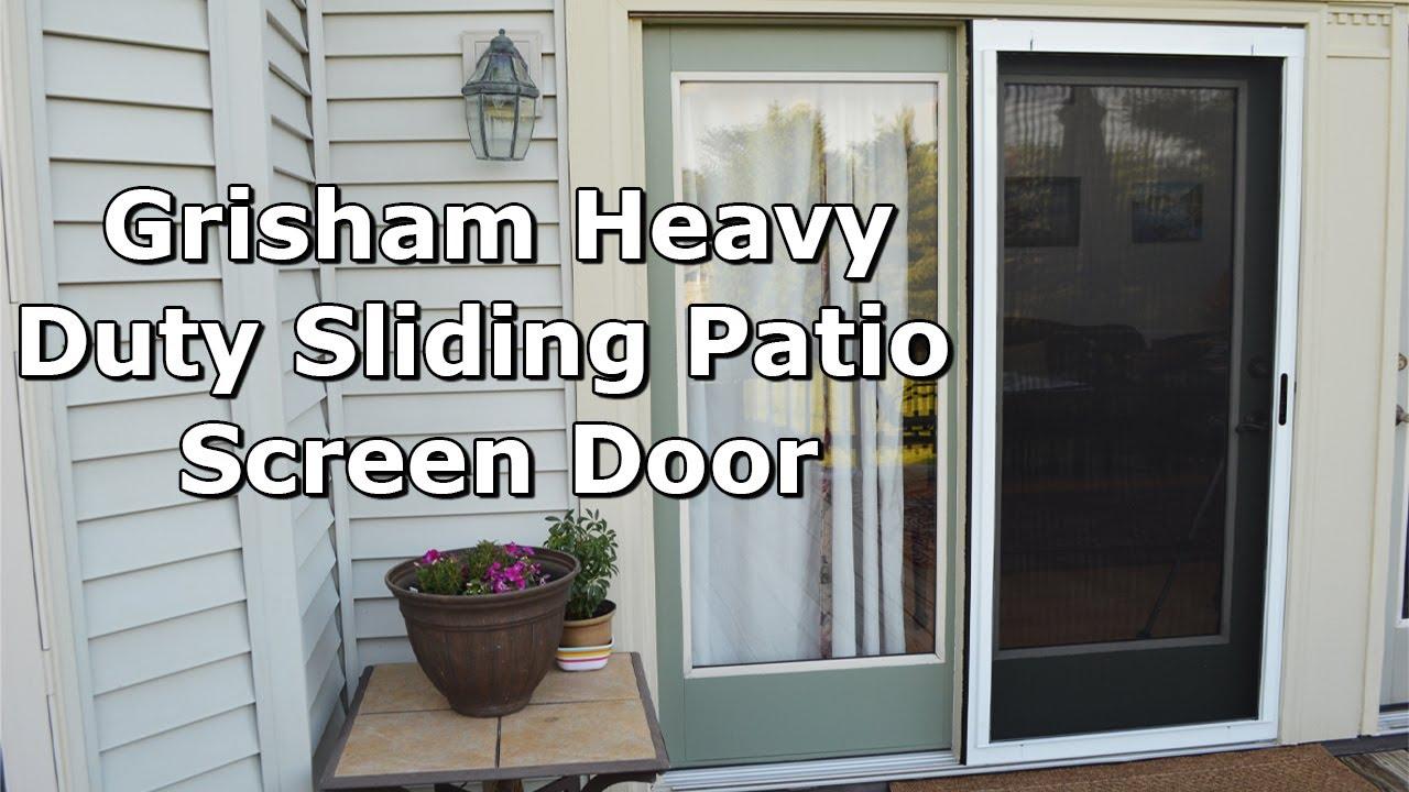 tutorial how to install a grisham heavy duty sliding patio screen door