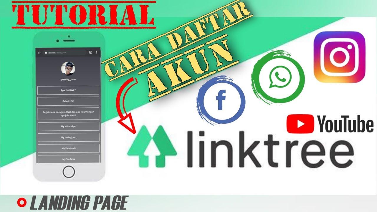 Cara linktree whatsapp,tutorial daftar akun linktree