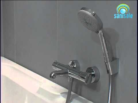 hansgrohe ecostat s badthermostaat youtube. Black Bedroom Furniture Sets. Home Design Ideas