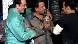 Salman Khan has fun with Mithun Chakraborty Sanjay Dutt medium2