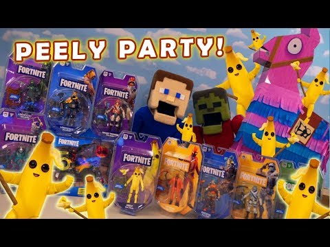 Fortnite BANANA PEELY Party! Series 3 & 4 Jazwares Figures Unboxing